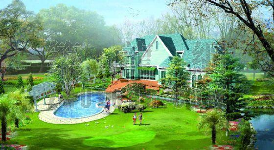 庄园别墅景观设计效果图