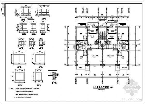 某两室两厅板式住宅端户型平面(90平米以下)(二)