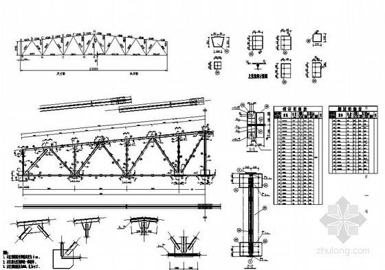[学士]某21米梯形钢屋架课程设计(含计算书,设计图)