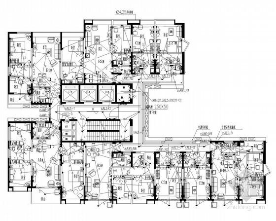[广东]超高层商业综合楼强电施工图85张(商业 酒店 办公 公寓)