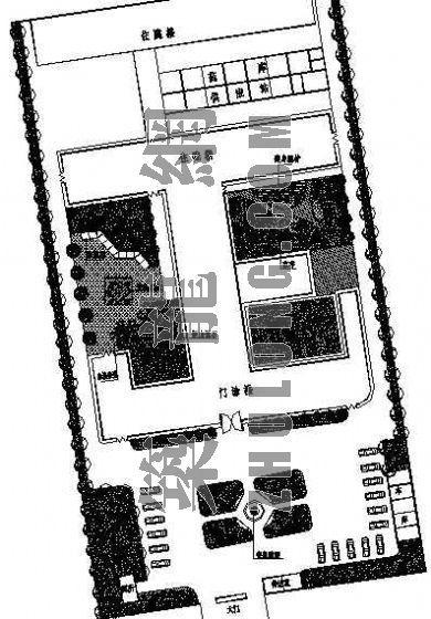 某医院绿化平面图