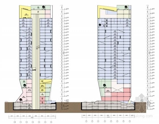 高层办公楼剖面图