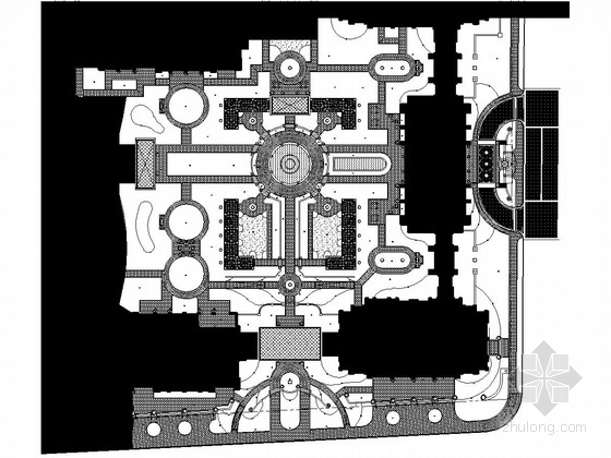 [北京]现代花园住宅样板区景观施工图(二)软景设计