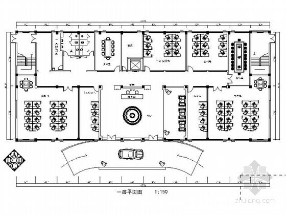 [浙江]超全面电器公司四层办公楼室内CAD施工图