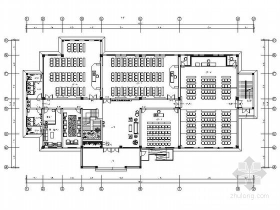 [江苏]智慧山高级中式风格酒店书院室内装修施工图(含实景)