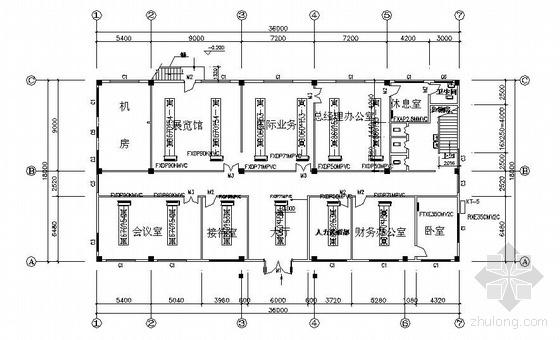 某三层办公楼VRV空调图纸