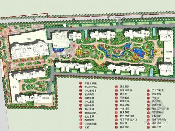 [驻马店]住宅小区景观设计方案