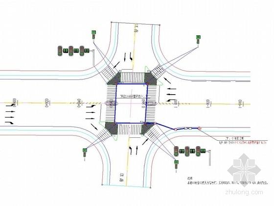 [湖北]城市次干道道路交通信号灯施工图设计19张