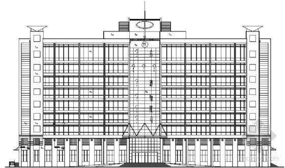 某厂区九层办公楼建筑方案图