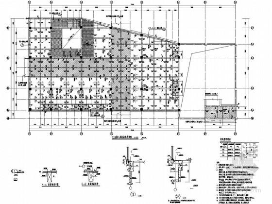 [福建]两栋地上二层现浇框架结构商业楼结构施工图