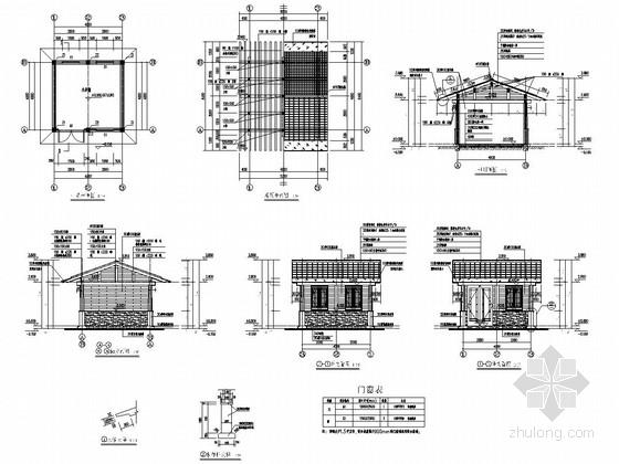 三级驿站小卖铺建筑结构图