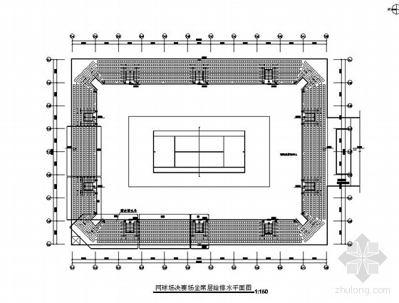 国外某体育公园网球馆给排水施工图