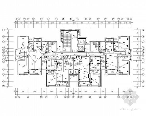 二十五层底商住宅强弱电系统全套施工图纸