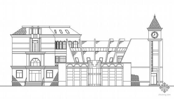 某住宅小区三层会所建筑设计施工图