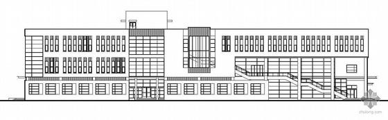[天津]某大学软件园生活区一期工程学生餐厅建筑结构水暖电施工图