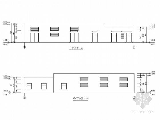 单层框架结构学校配电房结构施工图(含建筑图)