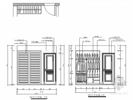 现代四居室住宅室内装修立面图