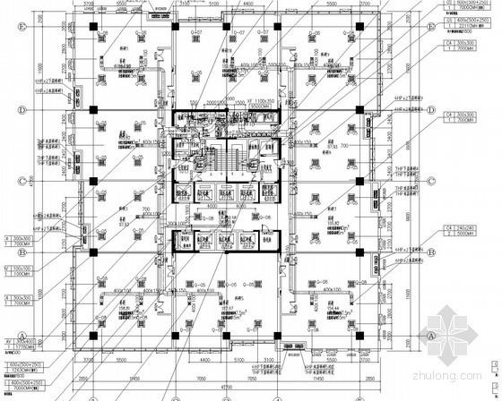 [上海]高层综合楼暖通空调系统设计施工图(大院作品 空调配管图多)