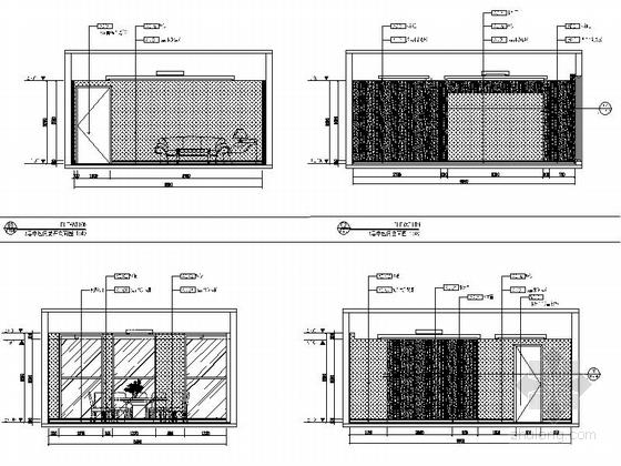 [河南]家电制造业连锁集团行政办公楼3层宴会厅及包间设计装修图(含方案手册照片)中包间立面图