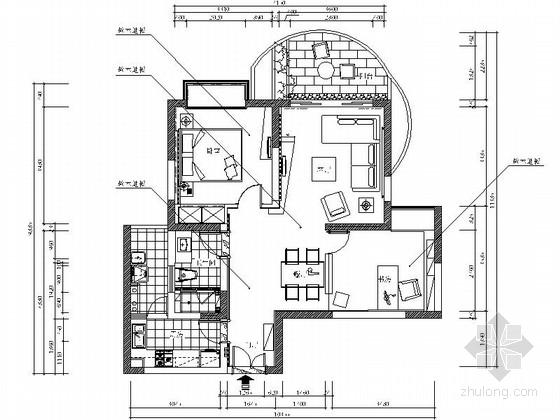 [杭州]高端小区清新两居室样板房装修图(含实景图)