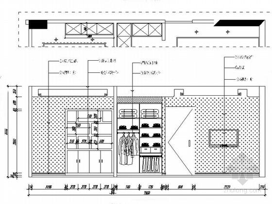 [福建]现代三居室样板房室内设计CAD施工图(含效果)更衣室立面图