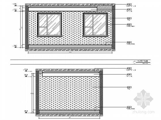 精品现代三层别墅样板间室内装修施工图次卧立面图