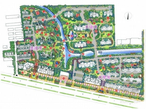 [江苏]自然生态高档居住区景观详细设计方案