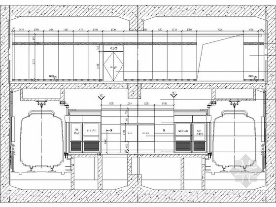 [江苏]地下两层岛式地铁车站站厅站台施工图设计47页(含装修)