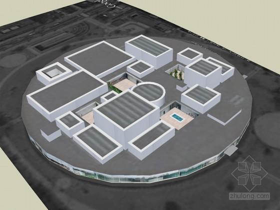 美术馆SketchUp模型下载