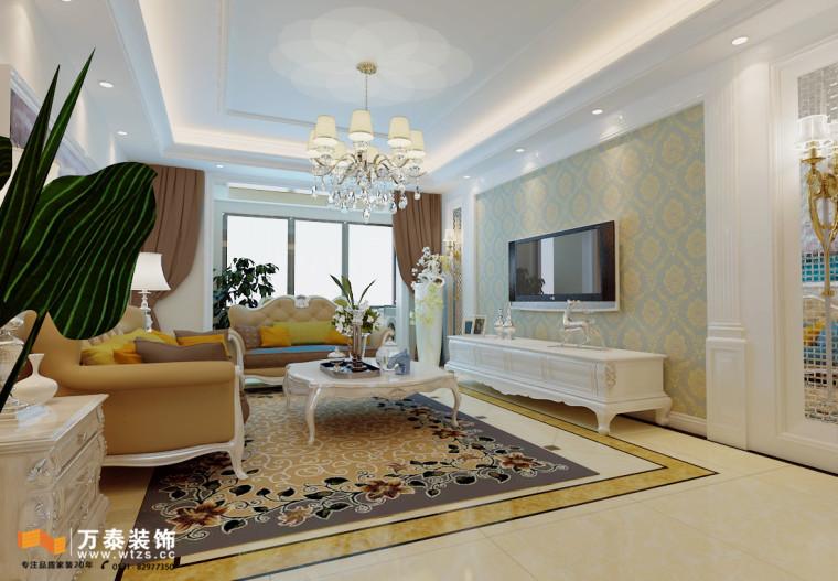 济南135㎡二手房装修,三室两厅简欧风格装修案例