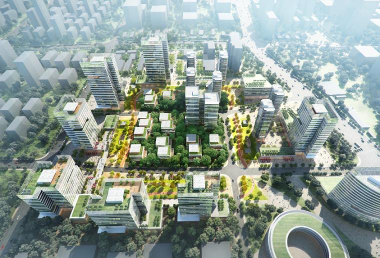 [上海]乔高高新科技产业园建筑设计概念方案文本