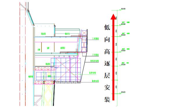 钢结构电视塔塔楼悬挑施工平台安装工法