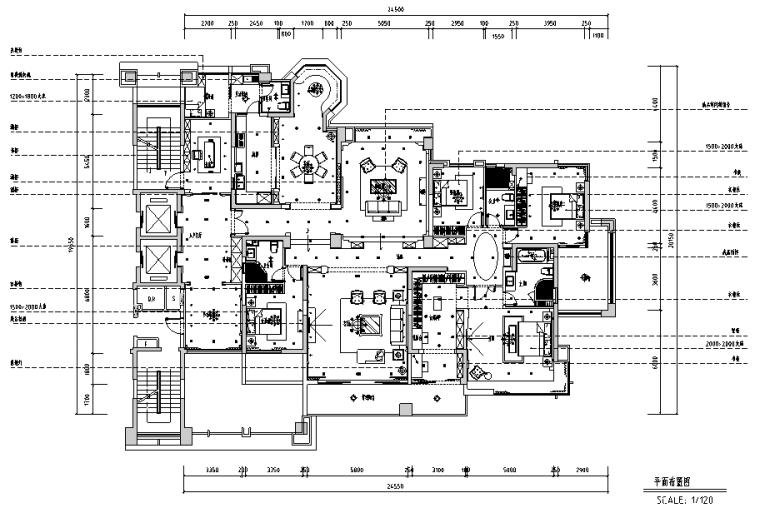香蜜湖一号住宅设计施工图(附效果图)
