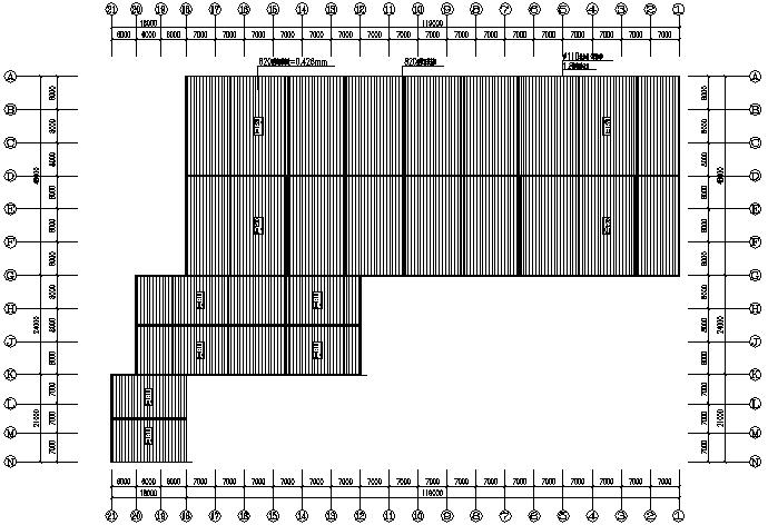 鸿源圆柱单跨门式刚架厂房钢结构工程(CAD,15张)