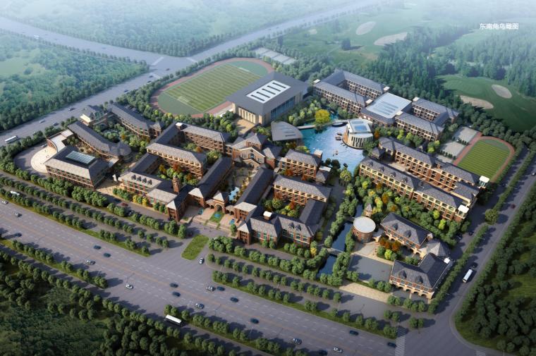 [江苏]欧式风格国际学校建筑设计方案文本