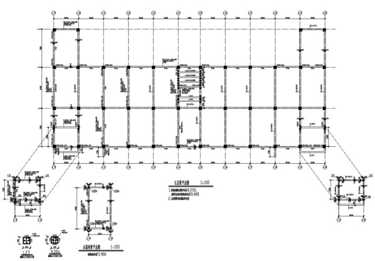 4层框架结构商业楼结构施工图(CAD、18张)