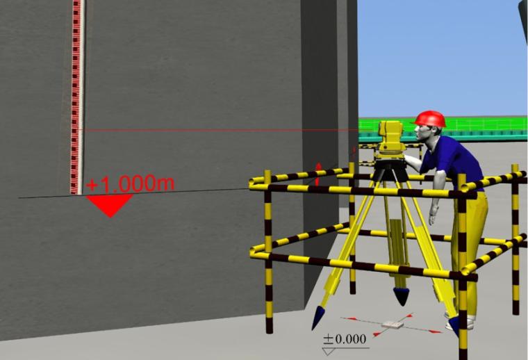 03全站仪照准+1.00米标高线确定Z坐标值