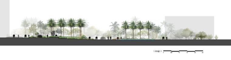 景观剖面图PSD分层素材-会议中心1