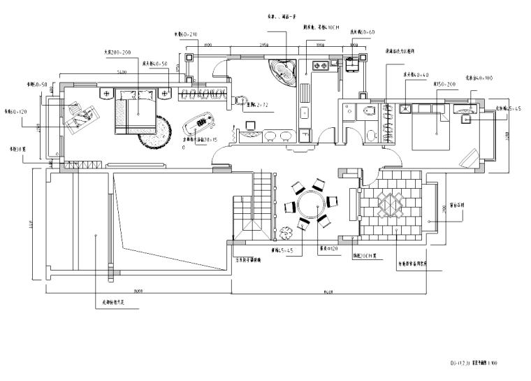 [海南]简欧风格复式室内设计施工图含实景图