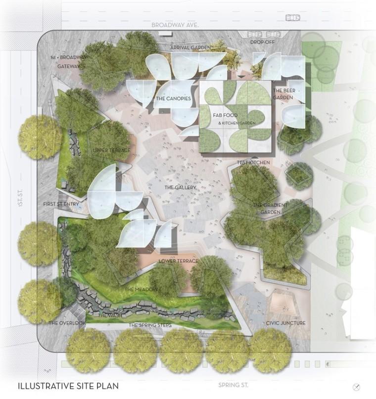 """洛杉矶市中心""""FAB""""新型公园的方案_8"""