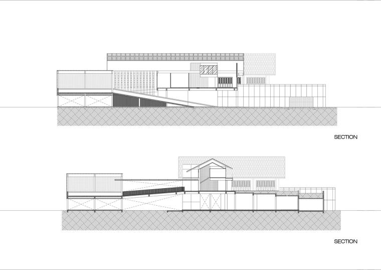 泰国现代田园式住宅剖面图(37)