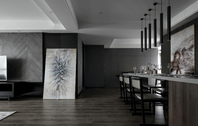 【江苏】简洁黑白灰空间样板房设计施工图(附效果图)_5