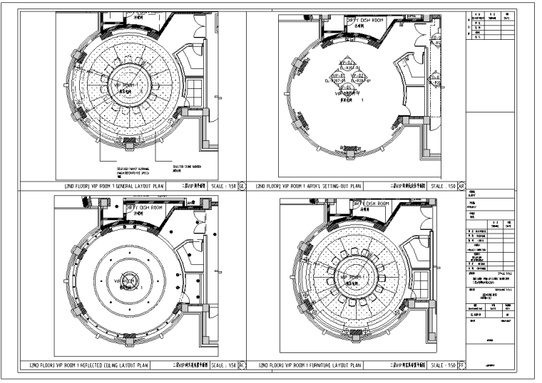 某2000平米中餐厅室内装修设计施工图(32张)