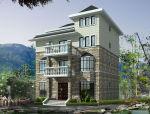 三层现代流派建筑别墅设计(包含效果图+CAD)