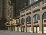 西班牙风格,20层南世纪锦城西班牙风格沿街商业(su模型)