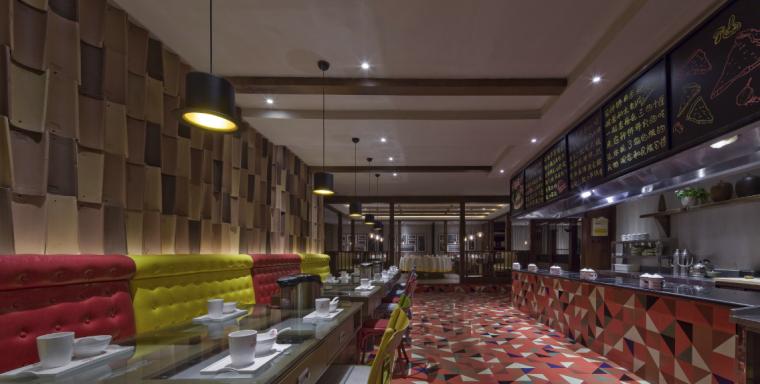 【新疆】新疆特色美食餐厅设计施工图(附效果图)_5