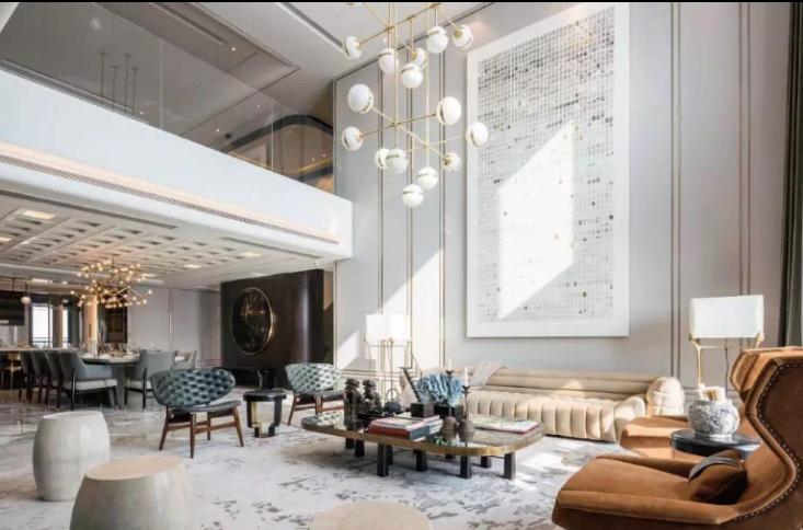 上海黃浦灘名苑摩登東方樣板間室內設計實景圖