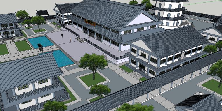 寺庙园林建筑模型(SU模型)-4