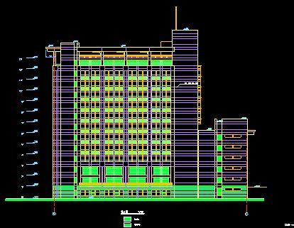 济南大学--综合办公楼建筑施工图