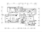 美式三居室家装设计施工图(含实景图)